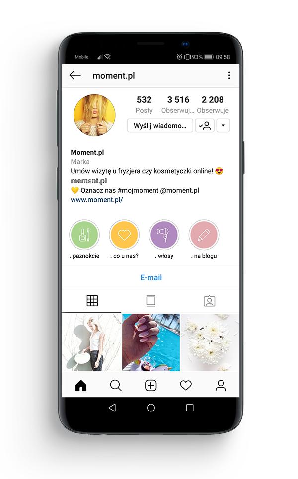 Konto firmowe na Instagramie