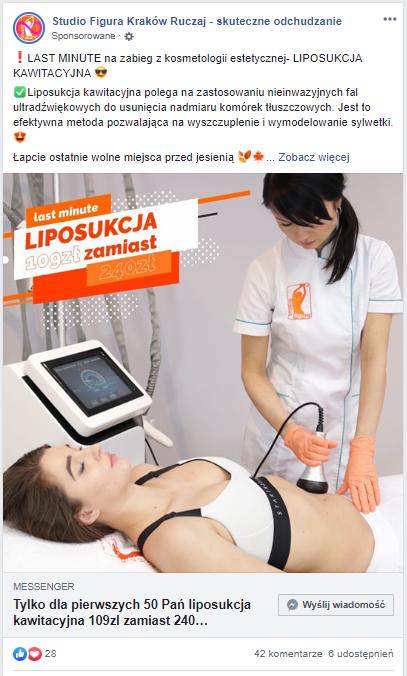 Zdjęcie reklamy z portalu facebook.com.