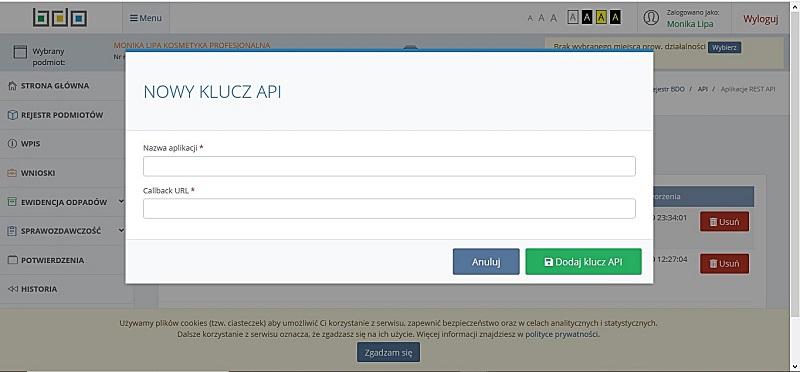 Jak uzyskać certyfikat API BDO